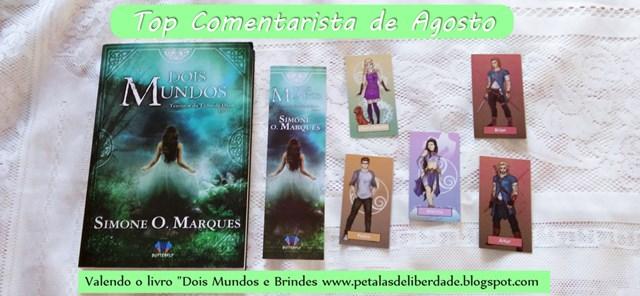 """TOP COMENTARISTA de agosto, valendo o livro """"Dois Mundos"""" da Simone O. Marques"""