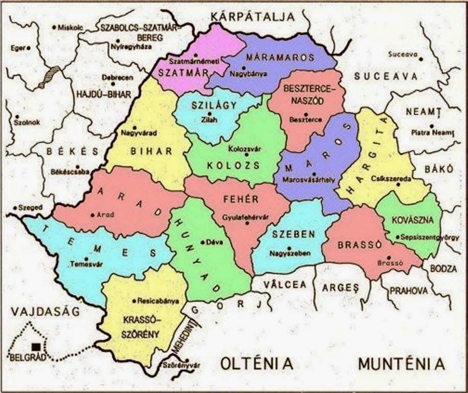 erdély megye térkép Erdély el fog szakadni Romániától   Külföld erdély megye térkép