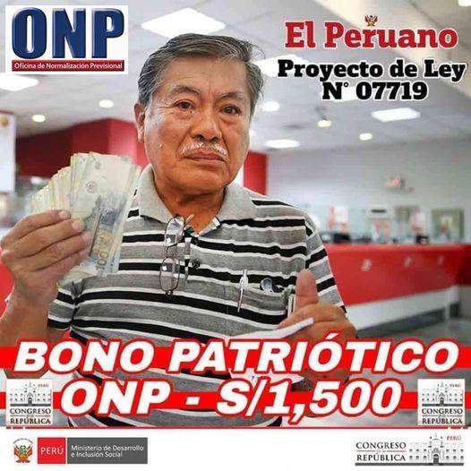 Bono Patriótico ONP De 1500 Soles: Consultar Con DNI