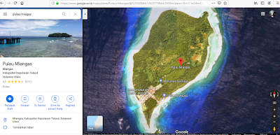 citra satelit pulau miangas