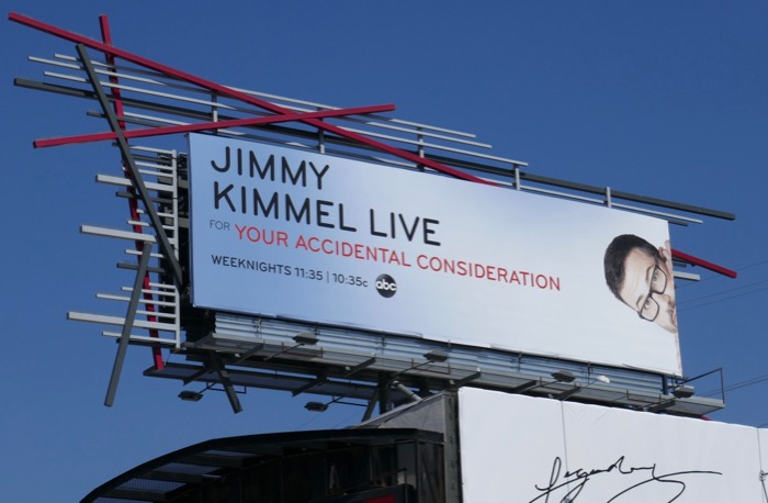 Jimmy Kimmel Live Accidental Consideration 2019 Emmy billboard