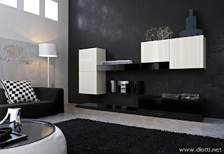 sala minimalista en blanco negro