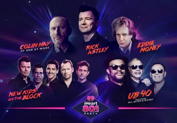 iHeartRadio has your chance to enter daily to win the adventure of a lifetime to San Jose, California to attend the 2nd Annual iHeart80s Party with New Kids On The Block, UB40, Rick Astley and more!