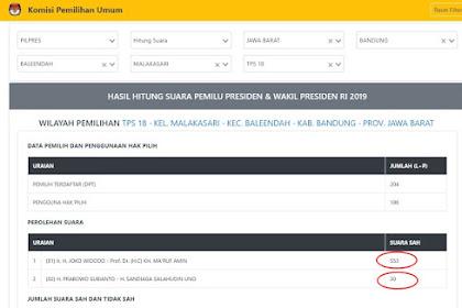 Setelah Viral, KPU Koreksi Input Data TPS 18 yang Mark Up Suara Jokowi