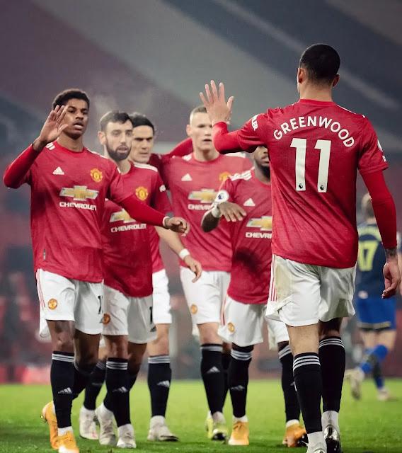 حقق مانشستر يونايتد فوز كبير على ساوثهامبتون 9-0