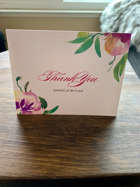 Fresh Cut Flowers Thank You Cards