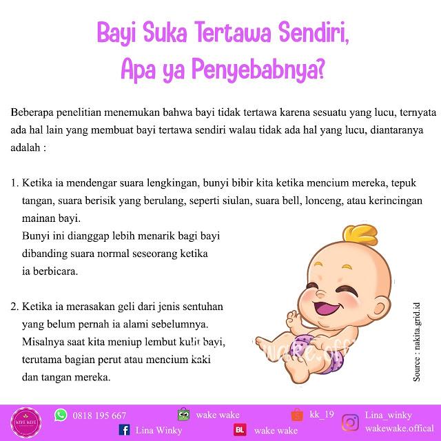alasan bayi suka tertawa sendiri