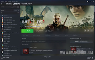 Melihat Game Play Time di Steam