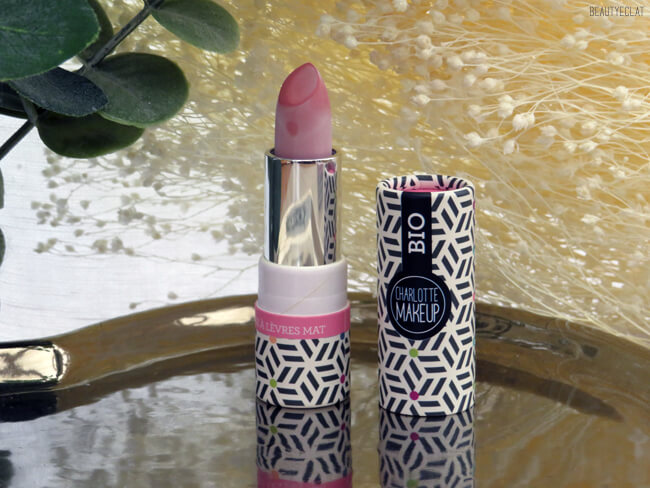 test rouge a levres mat rose girly charlotte makeup bio