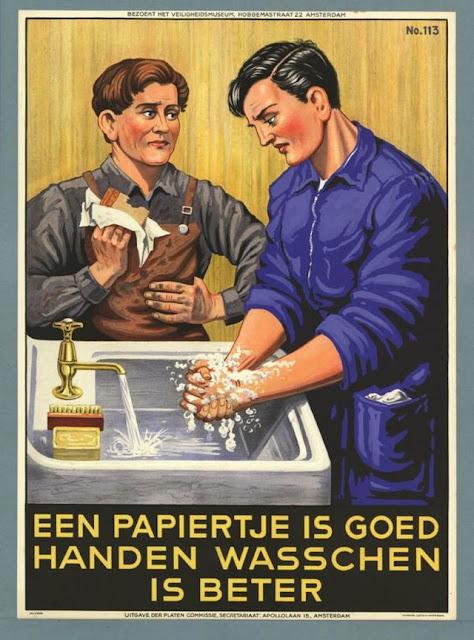 Antiguas campañas de propaganda para lavarse las manos