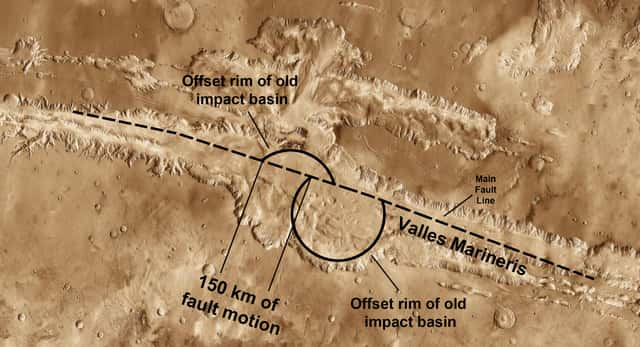 Valles Mariners - one of the largest canyon in the world
