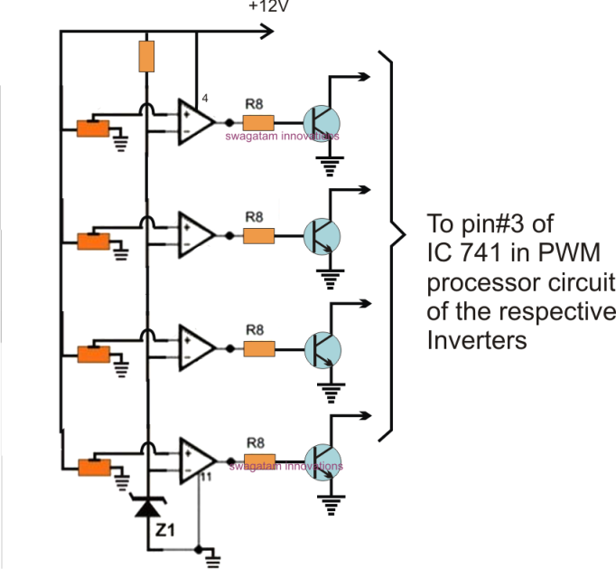 opamp 741 ic inverting comparator circuit