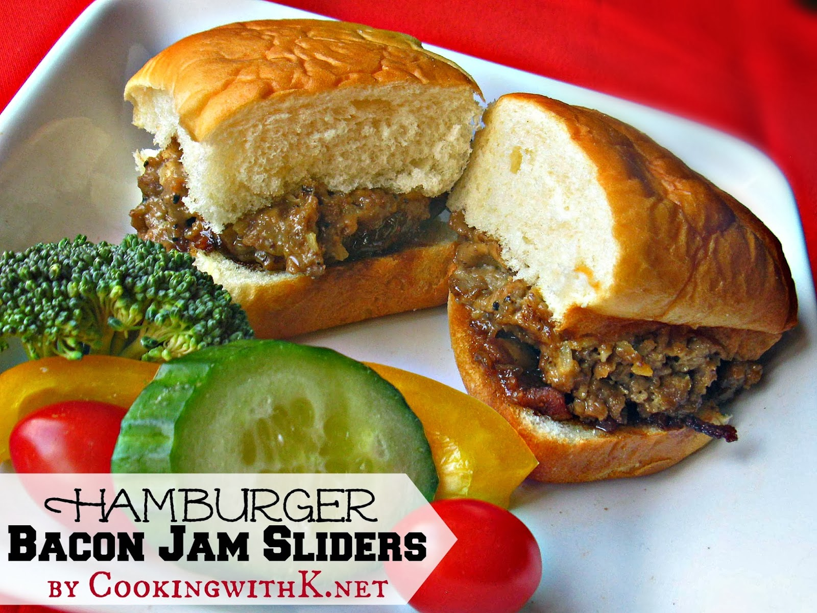 H Bacon Jam Sliders