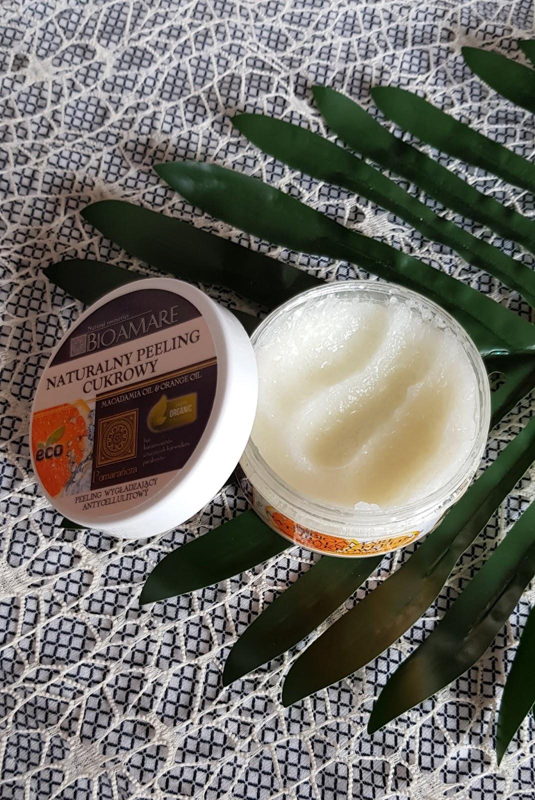 Bioamare naturalny peeling cukrowy pomarańcza