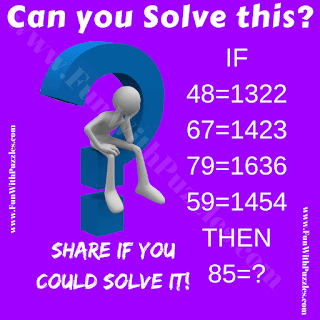 It is very interesting logical Maths Question in which one has to decode the given logical equations