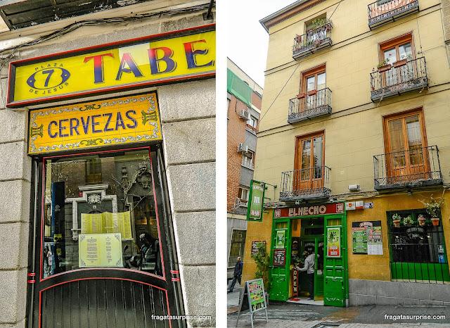 Tabernas no Barrio de las Letras, Madri