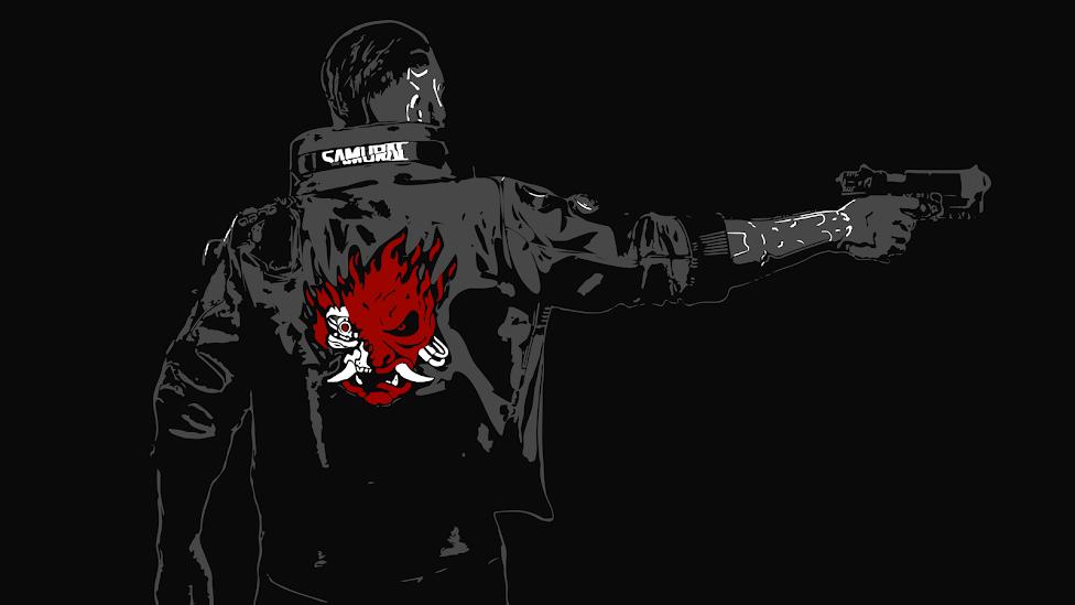 COOL DESKTOP WALLPAPER OF THE GAME CYBERPUNK 2077 - SAMURAI JACKET