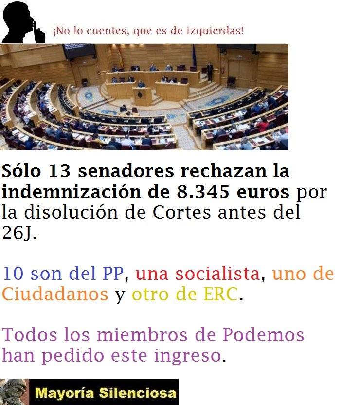 PERCEPCIONES DE LOS POLITICOS (SALARIOS) por Julio Fernández-Sanguino Fernández