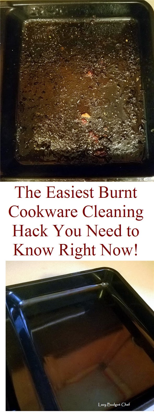 easy greasy burnt pot pan bake cook ware dish washing hack