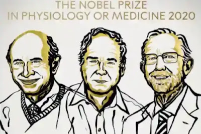 جائزة نوبل في الطب منحت لهارفي ج.ألتر ومايكل هوتون وتشارلز إم رايس لاكتشاف فيروس التهاب الكبد الوبائي سي
