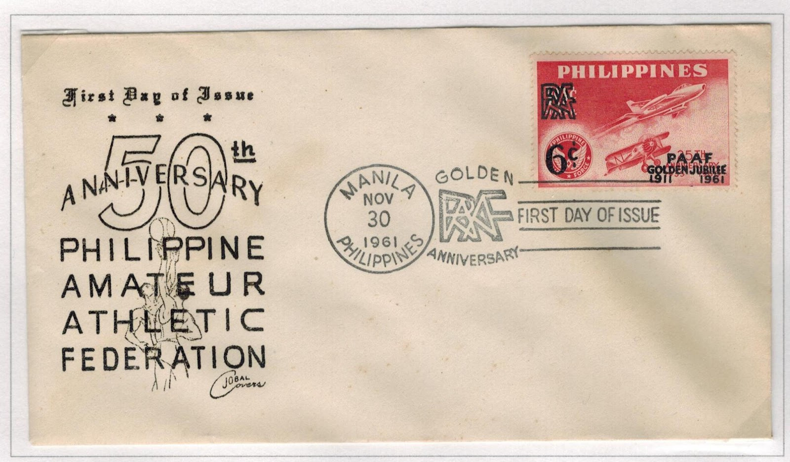 Philippine Republic Stamps  1961 Philippine Amateur Athletic Federation-8688