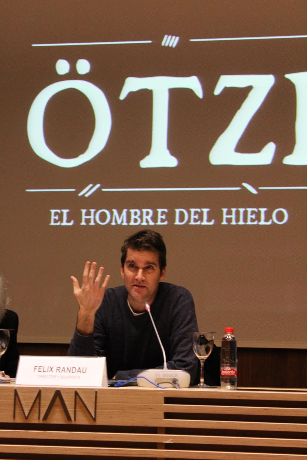 n momento de la rueda de prensa de Felix Randau en el Museo Arqueológico Nacional de España. Foto: Laura Benito.