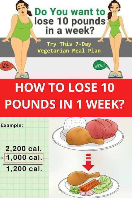 How to lose 10 pounds in 1 week?