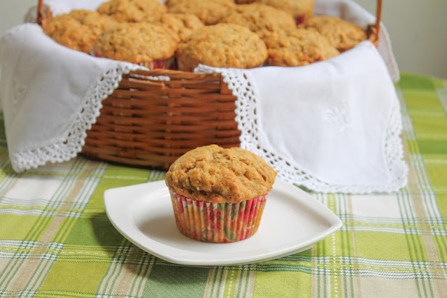 Food Lust People Love: These cane syrup banana muffins have no added sugar. The syrup and ripe bananas make them the perfect amount of sweetness for breakfast or snack time.