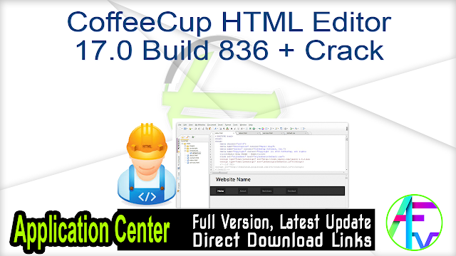CoffeeCup HTML Editor 17.0 Build 836 + Crack