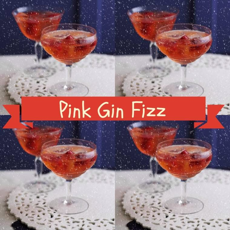 Pink Gin Fizz: Great For Christmas Afternoon Tea