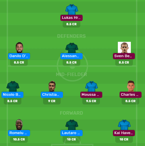 INT vs LEV Dream 11 Team for Today's Match