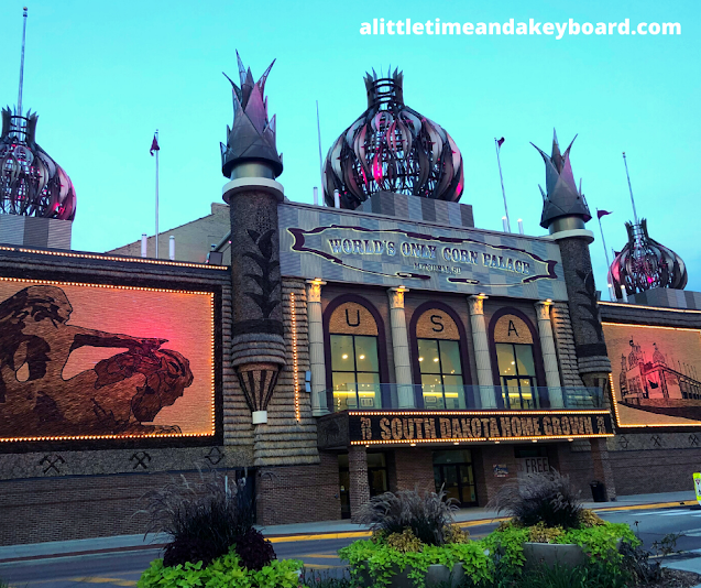 The Corn Palace delights at night!
