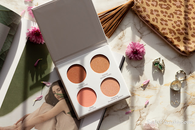 SERAPHINE BOTANICALS Happy Hibiscus Palette - 99% Natural Blush Palette