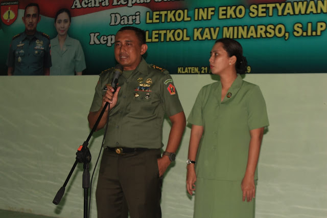 Acara Tradisi Lepas Sambut Komandan Kodim 0723/Klaten