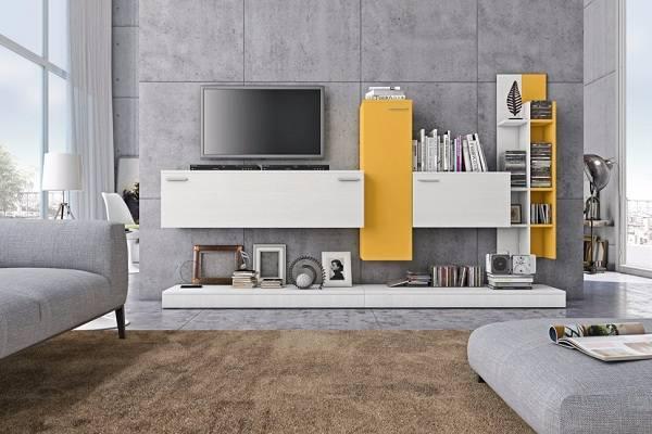 Giấy gián tường mang đến màu sắc tươi vui cho phòng khách