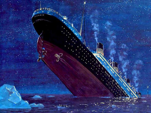 The Titanic sinking