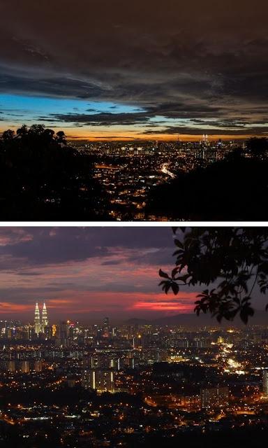 Bukit Ampang pemandangan sunset malam hari