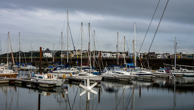 Photo of calm conditions at Maryport Marina on Tuesday afternoon
