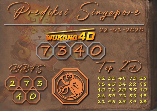 Prediksi Togel SINGAPORE WUKONG4D 22 JANUARI 2020