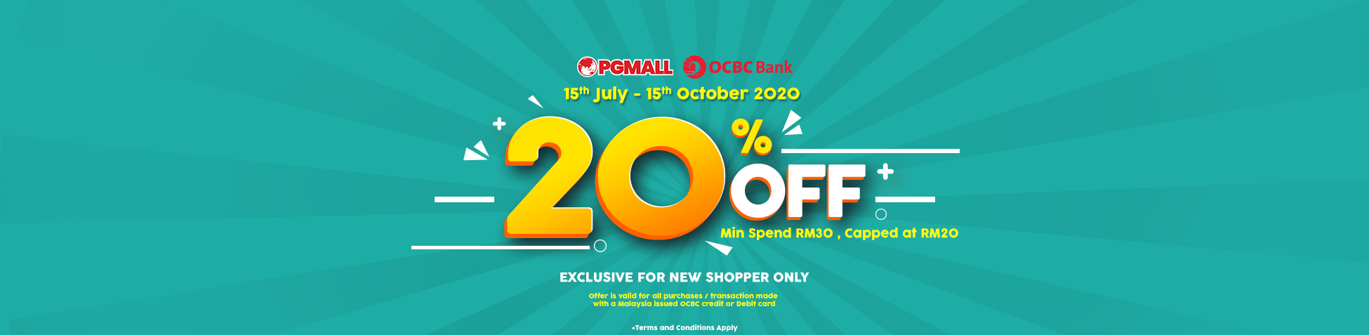 OCBC Card Holder get Great Discounts & Rewards When You Shop Online at PG Mall