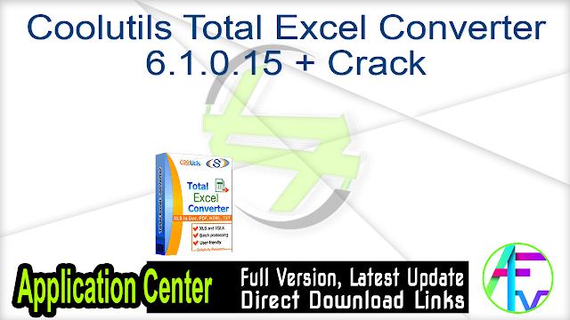 Coolutils Total Excel Converter 6.1.0.15 + Crack