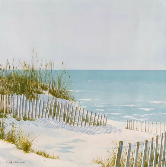 Beach Sand Dune Fence Ocean Art