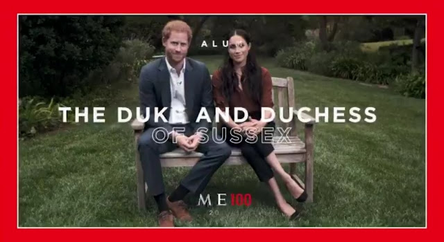 """Meghan and Harry make headlines both sides of the Atlantic - they Both mention the """"V"""" word."""