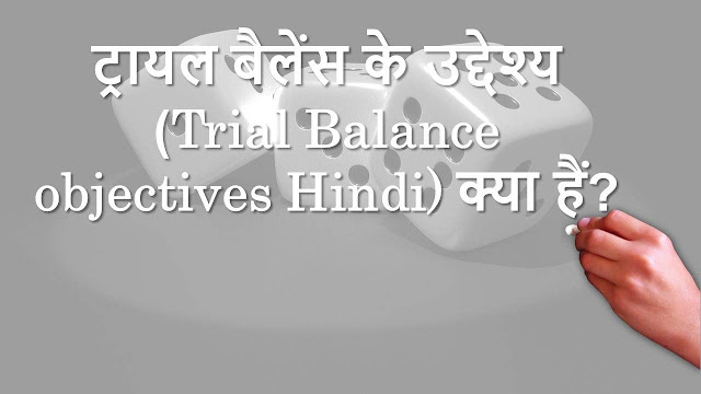 ट्रायल बैलेंस के उद्देश्य (Trial Balance objectives Hindi) क्या हैं Image