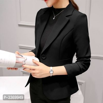 Imported Elegant Solid Polyester Women Blazer