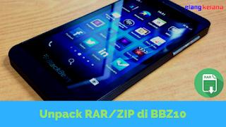 ZIP biasanya digunakan untuk menyimpan data yang telah di kompresi  Tutorial Ekstrak RAR/ZIP di BlackBerryZ10+