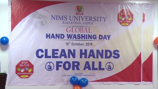 Global Hand Washing Day - Nims Nursing College | Nims Hospital Jaipur