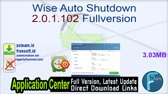 Wise Auto Shutdown 2.0.1.102 Fullversion