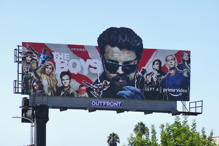 Boys season 2 cutout billboard
