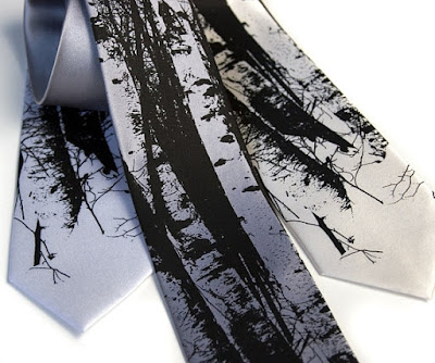 Birch Trees Tie